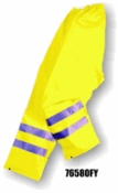 Majestic Gloves,  6580, Flexothane Waist Pant, Fluorescent Yellow, 3m Reflective Striping, 76580FY