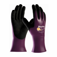 PIP, MaxiDry® Ultra Lightweight Nitrile Glove, Fully Dipped with Seamless Knit Nylon / Lycra Liner and Non-Slip Grip on Palm & Fingers