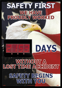 NMC DSB806 Safety First American Themed Insight Digital Scoreboad