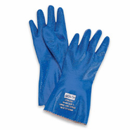 North® Nitri-Knit™ NK803IN Insulated Blue Rough Finish Nitrile Gloves