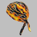 OccuNomix Tough Nougies Tie Hat Doo Rag - Big Flame