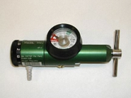 Oxygen Click Style Regulator (1/4-25 LPM) CGA-870 Yoke with Barb