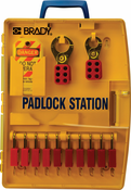 Brady 105930 Padlock Station with 10 Safety Padlocks