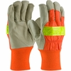 PIP� Top Grain Pigskin Leather Palm Glove with Hi-Vis Nylon Back and 3M� Thinsulate� Liner - Knitwrist