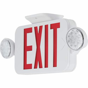 Progress Lighting PECUE-UR-30 Exit Signs Wall-Mounted Light White
