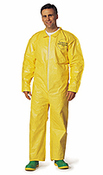 QC Chemical Protection Coveralls With Serged Seams And Front Zipper Closure