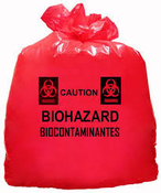 Red Biohazard Waste Bags
