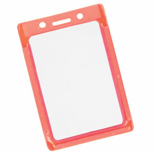 Brady People ID 1820-3011 Reflective and Glow-in-the-Dark Color-Frame Vertical Vinyl Badge Holder