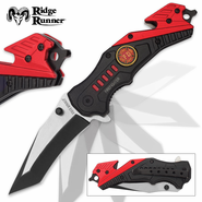 Ridge Runner RR684 Firefighter Everyday Carry Assisted Opening Tanto Pocket Knife