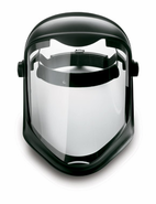 Uvex, S8510 Face Shield with Suspension, Clear Polycarbonate, Anti-fog/Hardcoat Visor, Black Matte Shell S8510