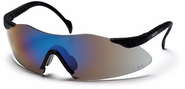 Pyramex, Intrepid, Safety Glasses, Blue Mirror Lens, Black Frame