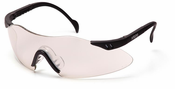 Pyramex, Intrepid Safety Glasses, Indoor/Outdoor Mirror Lens, Black Frame,SB1680S