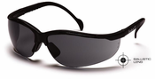 Pyramex SB1820S Venture II, Safety Glasses, Gray Lens, Black Frame