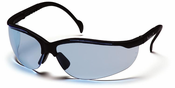 Pyramex SB1860S, Venture II, Infinity Blue Lens,  Black Frames, Safety Glasses,