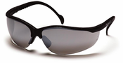 Pyramex, SB1870S Venture II, Safety Glasses, Black Frames, Silver Mirror Lens, The Venture II is fully adjustable to fit most head sizes. Its great, lightweight fit makes it comfortable for wear all day long.