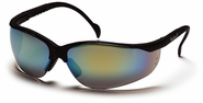 Pyramex SB1890S Venture II, Safety Glasses, Gold Mirror Lens Black Frame