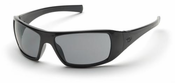 Pyramex, Goliath Safety Glasses, Gray Lens, Black Frame