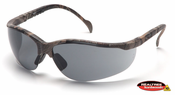 Pyramex, Venture II, Safety Glasses, Realtree Hardwood Frame, Gray Lens