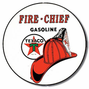 Texaco Fire Chief T204 Round Tin Sign