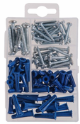 The Hiillman Group 591516 95pc Plastic Anchor And Screw Assortment