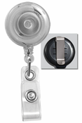 Brady People ID, Translucent Badge Reel W/ Clear Vinyl Strap & Belt Clip.