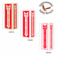NMC GLV42 Acrylic Glow Fire Extinguisher Sign