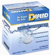 Defend UT-1000 Ultrasonic Enzymatic Tablets, 64/Box