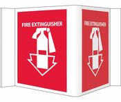 VISI SIGN, FIRE EXTINGUISHER, RED, 5 3/4X8 3/4, .125 ACRYLIC