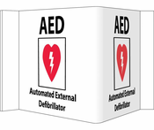 AED 3 D Sign, W/Graphics, 8X14 1/2, .125 Acrylic