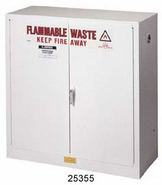 Justrite 8930053 - 30 Gallon White Flammable Cabinet