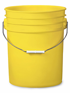 Colored S-7914Y 5 Gallon Plastic Buckets 90 Mil Heavy Duty, FDA Grade