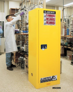 Justrite 892200 Yellow Slimline Safety Cabinets
