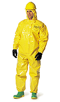 Dupont Tychem DPPBR127TYL BR Chemical Protection Coverall Yellow