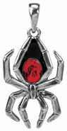YTC 2640 Black Widow Spider Pendant