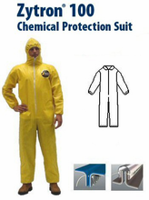 Kappler® Zytron® Z100 Coverall with Collar, Elastic Wrists and Ankles.