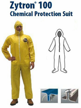 Kappler® Zytron® Z100 Coverall with Hood and Boots, Elastic Wrists.