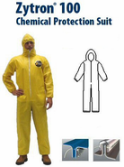 Kappler® Zytron® Z100 Coverall with Hood, Elastic Wrists and Ankles.