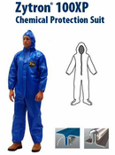 Kappler® Zytron® Z100XP Coverall with Hood and Boots, Elastic Wrists.