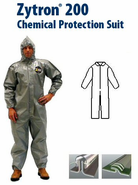 Kappler® Zytron® Z200 Coverall with Collar & No Elastic.