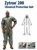 Kappler® Zytron® Z200 Coverall with Hood & Boots and Elastic Wrists.