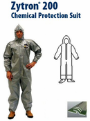 Kappler® Zytron® Z200 Coverall with Hood & Sock Boots with Boot Flaps and Elastic Wrists.