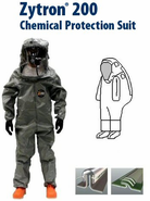 Kappler® Zytron® Z200 Totally Encapsulating Level B Rear Entry Suit w/ Expanded Back.