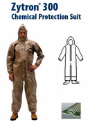 Kappler® Zytron® Z300 Coverall with Hood & Sock Boots with Boot Flaps and Elastic Wrists- CE Certified Type 3.