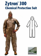 Kappler® Zytron® Z300 Coverall with Hood & Elastic Wrists and Ankles - CE Certified Type 3.