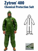 Kappler Zytron Z400 Coverall with Hood & Elastic Wrists, Sock Boots and Boot Flaps.