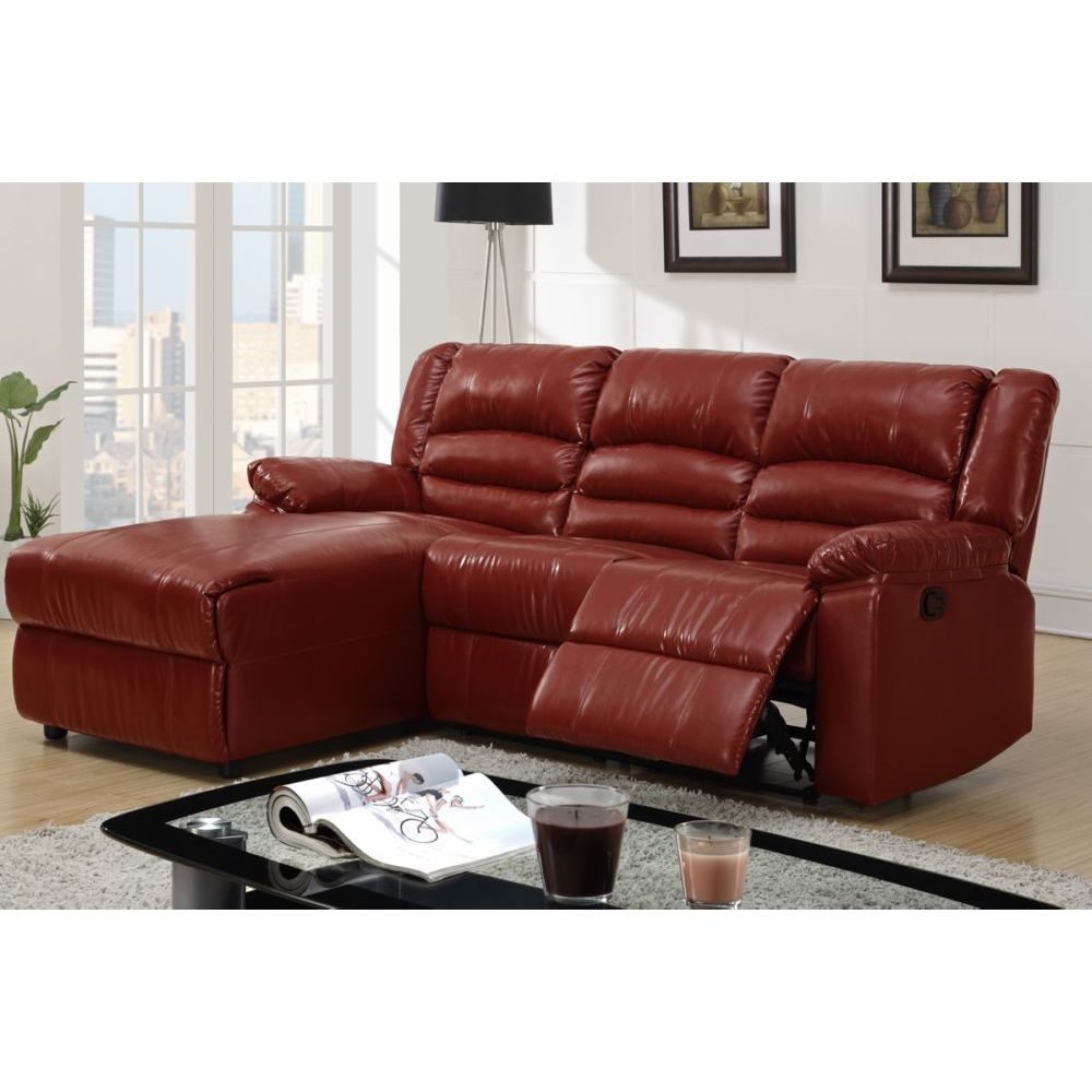 leather reclining sectional with chaise. Black Bedroom Furniture Sets. Home Design Ideas