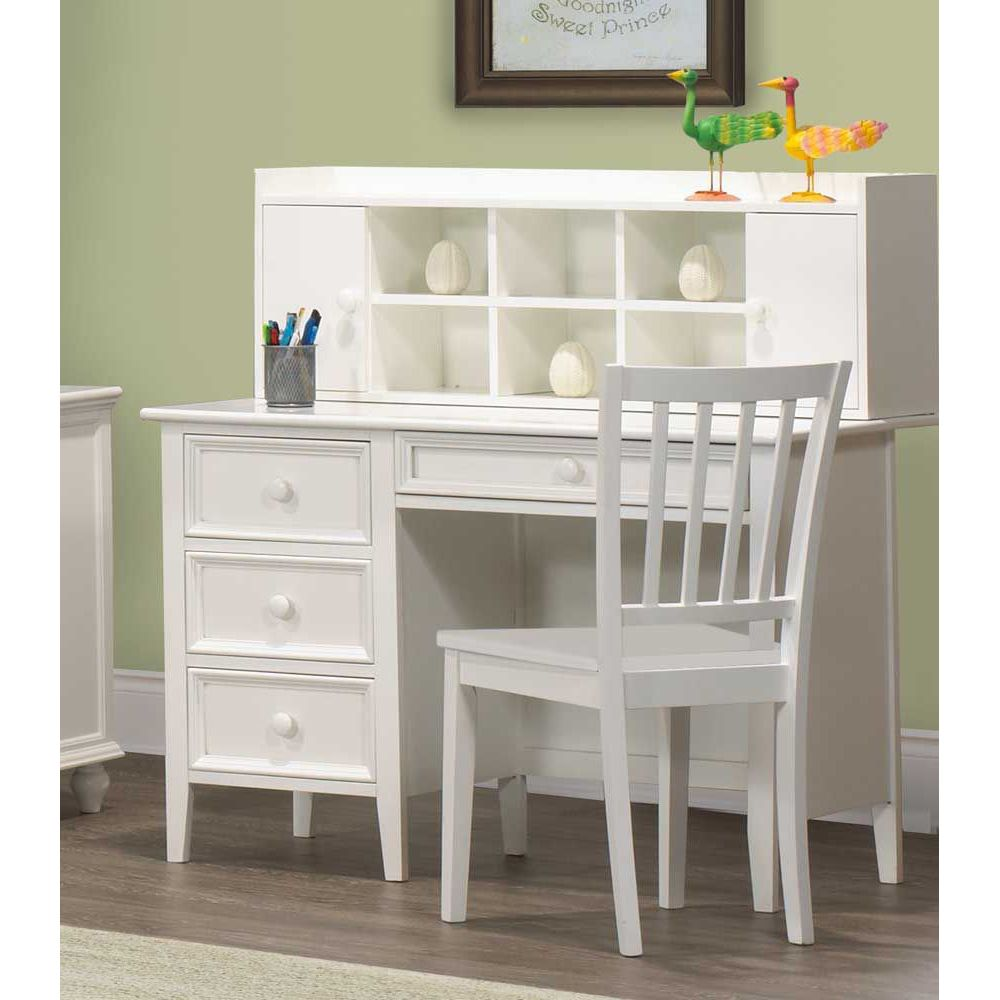 White writing desk with hutch - Desk girl image in ...