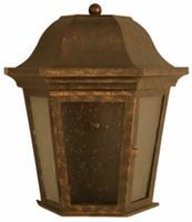 Adamo Wall Sconce Brass Lantern - Medium [CLOSE OUT]