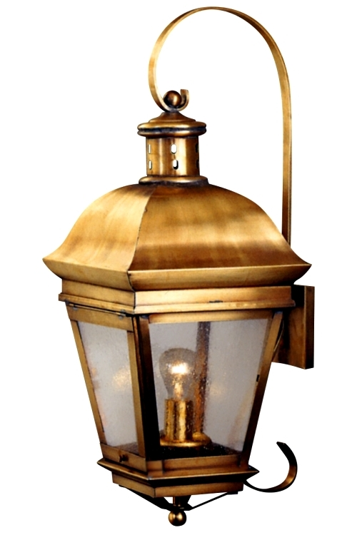 American Legacy Copper Lantern Wall Light With Bracket And
