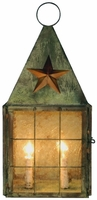 Americana Star Colonial Wall Sconce Copper Lantern